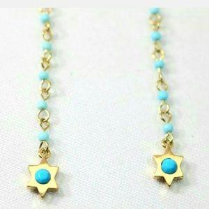 Rebecca Minkoff Linear Beaded Threader  Earrings